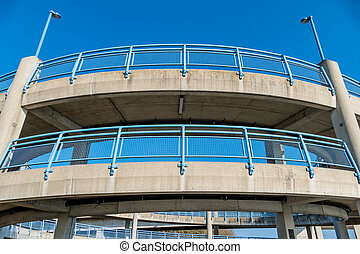 multi-storey footbridge - multi-storey pedestrian bridge, a...