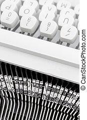 a typewriter keyboard - keys of an old typewriter. symbol...