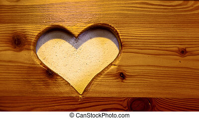heart cut out, - snip heart, symbol of love photo