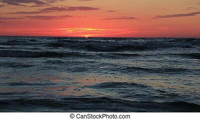 Sea and ocean sunset sunrize water wave landscape
