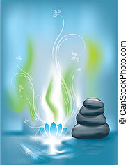 Spa background with stones, eps 10 vector illustration