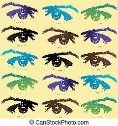 Eyes background