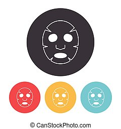Facial mask icon