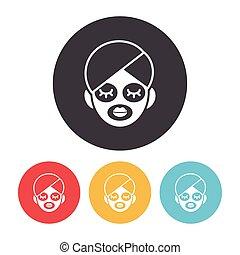 Facial mask icon