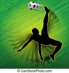 Football player-Soccer player - Illustration of football...