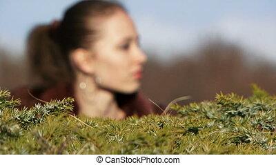 The girl in the bush