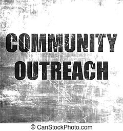 Community outreach sign with some smooth lines