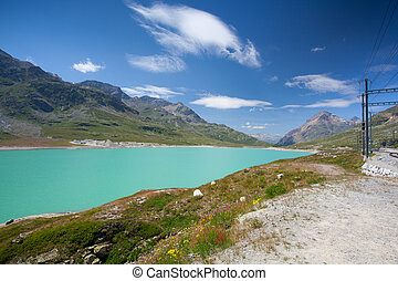 Alpine landscape, Ospizio Bernina, Switzerland - Alpine...