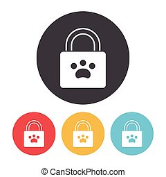 pet shopping bag icon