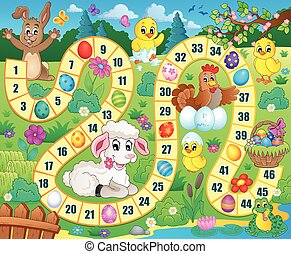 Board game image with Easter theme