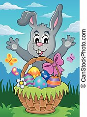 Easter basket theme image   - Easter basket theme image