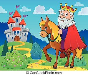 King on horse theme image