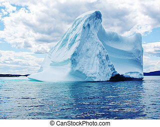 Iceberg in Atlantic Ocean off Newfoundland Iceberg in...