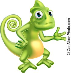 Cartoon Chameleon - A cartoon chameleon lizard character...
