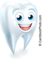 Tooth Dental Mascot - A cartoon cute tooth dental dentists...