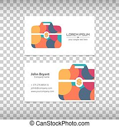 Vector logo with business card - Abstract Creative concept...