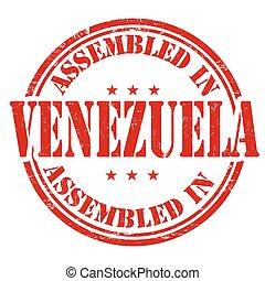 Assembled in Venezuela stamp - Assembled in Venezuela grunge...