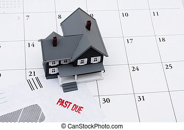Behind on your mortgage payments - A past due bill sitting...