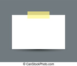 Blank white business card with scotch tape