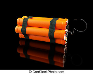 dynamite on a black background