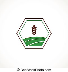 Agro icon - Vector illustration of a green agro symbol