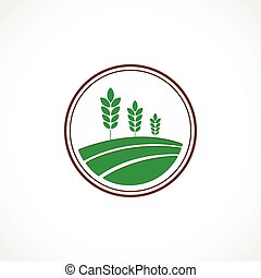 Agro stamp - Vector illustration of a green agro symbol