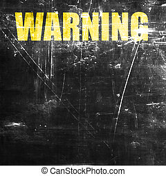Empty warning sign with space for your own text
