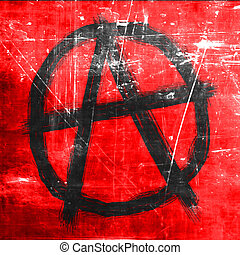 Anarchy sign with rough edges and some grunge effects