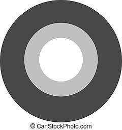 Roll of black insulating tape isolated on a white background.