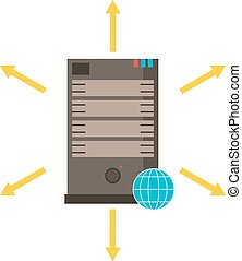 Computer server icon vector illustration. Server symbol...