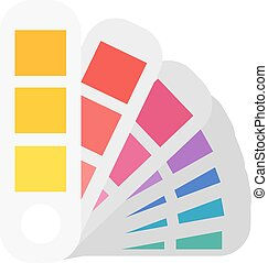 Layout color samples to determine preferences in the...