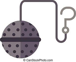 Tea strainer vector illustration. Food tool tea-strainer...