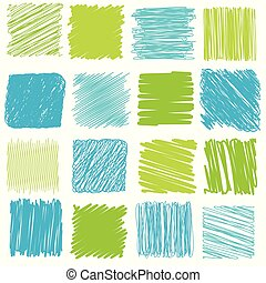 Vector set of scribble elements - Vector collection of...