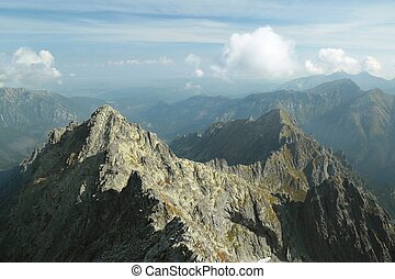 Highest peak in the Tatra Mountains - View from the highest...