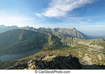 Highest peaks of the Carpathians on the Polish-Slovak border...