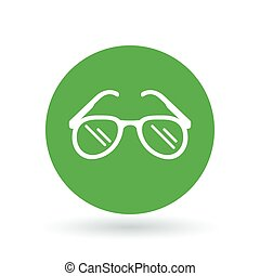 Teardrop sun glasses icon. Sunglasses sign. Aviator sun shades symbol. Vector illustration.