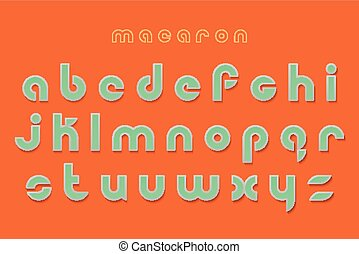 macaron - new set of stylish, 3d effect alphabet letters...
