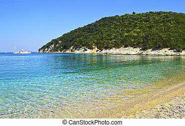 Filiatro beach Ithaca island Greece - Filiatro beach in...