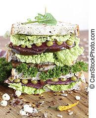 A large sandwich