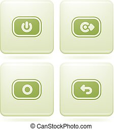 Olivine Square 2D Icons Set: Phone display - A phone...