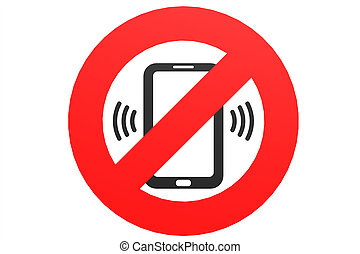No mobile phone sign - Mobile Phone prohibited No cell phone...