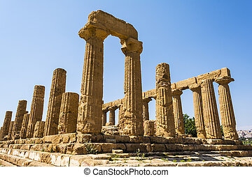 Ancient Greek Temple of Juno God - Ancient greek Temple of...