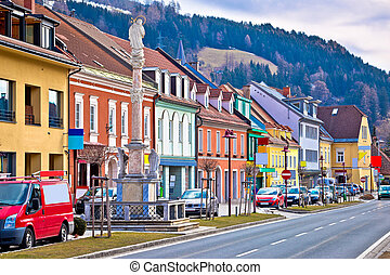 Bad sankt Leonhard colorful streetscape - Town of Bad sankt...