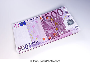 Euro Bills - 3D rendered Illustration.