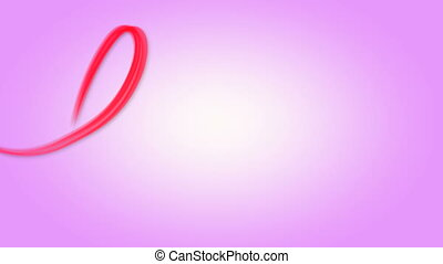 Word love written red on pink