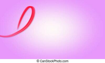Word love written red on pink - Word love written fluent...