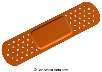 Bandaid, isolated on white background. 3D render.