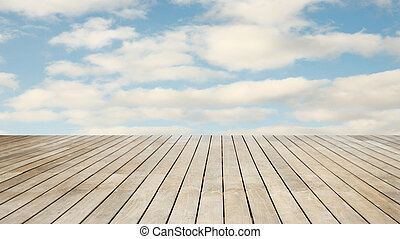 Stage wood natural background