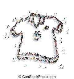 people  shape  T-shirt cartoon