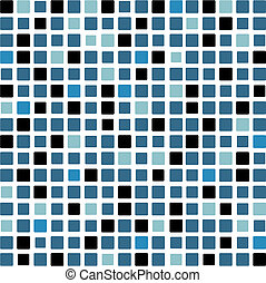 mosaic background in blue and black color tones
